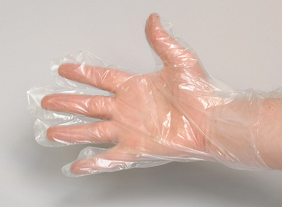 Plastic Gloves Clear Hdpe